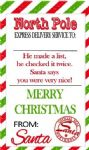 Personalised Green Red Stripe Christmas Tags